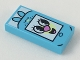 Part No: 3069bpb0673  Name: Tile 1 x 2 with Groove with PowerPuff Smartphone with Bunny Ears Pattern