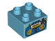Part No: 3437pb058  Name: Duplo, Brick 2 x 2 with Boom Box Radio Pattern