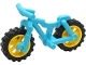 Part No: 36934c05  Name: Bicycle Heavy Mountain Bike with Yellow Wheels