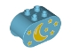 Part No: 4198pb23  Name: Duplo, Brick 2 x 4 x 2 Rounded Ends with Moon and Stars Pattern