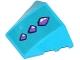 Part No: 64225pb015  Name: Wedge 4 x 3 No Studs with 3 Medium Lavender Geometric Dragon Scales Pattern (Sticker) - Set 41172