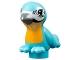 Part No: 98388pb03  Name: Bird, Friends / Elves with Bright Light Orange Chest, Black Eyes and Dark Bluish Gray Beak Pattern