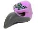 Part No: 16659pb03  Name: Minifigure, Headgear Mask Bird (Vulture) with Dark Bluish Gray Beak and Sand Green Headpiece Pattern