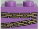Part No: 3004pb237  Name: Brick 1 x 2 with Gold Chains Pattern (BrickHeadz Belle Bottom Abdomen)
