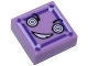 Part No: 3070bpb116  Name: Tile 1 x 1 with Groove with Face with Hypnotic Eyes and Crooked Smile (Kryptomite) Pattern