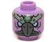 Part No: 3626cpb1163  Name: Minifigure, Head Alien Chima Vulture with Dark Bluish Gray Beak, Bright Light Blue Eyes and Sand Green Headpiece Pattern (Vardy) - Hollow Stud