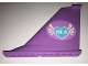 Part No: 54094pb07  Name: Tail 14 x 2 x 8 with Heart, Feathers and 'HLA' Pattern on Both Sides (Stickers) - Set 41109