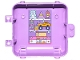 Part No: 64454pb03  Name: Container, Box 3 x 8 x 6 2/3 Half Back with Toys, Teddy Bear, Rocket, Robot, Car and Dollhouse Pattern (Sticker) - Set 41409
