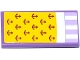 Part No: 87079pb0204  Name: Tile 2 x 4 with Yellow Blancket with Anchors and White Sheet over Lavender Striped Mattress Pattern (Sticker) - Set 41094