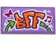 Part No: 87079pb0286  Name: Tile 2 x 4 with Butterfly, Music Note and 'BFF' Graffiti Pattern (Sticker) - Set 41099
