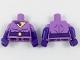 Part No: 973pb2946c01  Name: Torso Female, Wonder Twin Jayna Pattern / Dark Purple Arms with Medium Lavender Short Sleeves Pattern / Dark Purple Hands