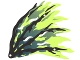 Part No: 21747  Name: Cloth Wing Dragon Right with Black and Dark Blue Streaks Pattern