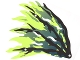 Part No: 21858  Name: Cloth Wing Dragon Left with Black and Dark Blue Streaks Pattern