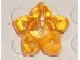 Part No: clikits136  Name: Clikits Icon, Flower 5 Pointed Petals 2 x 2 Large with Hole