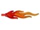 Part No: 85959pb01a  Name: Wave Rounded Large (Flame) with Marbled Trans-Orange Pattern
