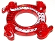 Part No: 98344pb03  Name: Ring 4 x 4 with 2 x 2 Hole and 2 Intertwined Snakes with White and Black Pattern (Ninjago Spinner Crown)