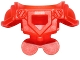 Part No: 22402  Name: Minifigure Armor Breastplate with Shoulder Pads Large, Pentagonal Cutout and 4 Studs on Back