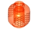 Part No: 3626cpb1753  Name: Minifigure, Head without Face Hexagonal Honeycomb Pattern - Hollow Stud