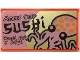 Part No: 57895pb088  Name: Glass for Window 1 x 4 x 6 with Octopus, Ninjago Logogram and 'SUSHI' Pattern (Sticker) - Set 70657
