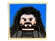 Part No: 11203pb005  Name: Tile, Modified 2 x 2 Inverted with Thorin Oakenshield on Blue Background Pattern