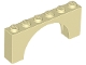 Part No: 12939  Name: Arch 1 x 6 x 2 - Thin Top without Reinforced Underside