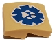 Part No: 15068pb362  Name: Slope, Curved 2 x 2 with White Paw Print on Blue Wildlife Rescue Logo Pattern