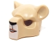 Part No: 15084pb01  Name: Minifigure, Headgear Mask Feline with Black Nose, Beauty Mark and Crooked Smile Pattern
