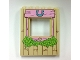 Part No: 15627pb002  Name: Panel 1 x 6 x 6 with Window with Pink Wood Frame, Horseshoe, Heart and Leaves Pattern