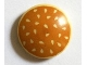 Part No: 2654pb005  Name: Plate, Round 2 x 2 with Rounded Bottom and Medium Nougat Hamburger Bun with Sesame Seeds Pattern