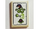 Part No: 26603pb082  Name: Tile 2 x 3 with White Parchment, Bottle, Lime Vapors and Dark Purple Carnivorous Plant Pattern (Sticker) - Set 41188