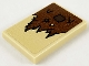 Part No: 26603pb109  Name: Tile 2 x 3 with Reddish Brown Tattered Cloth and Dark Brown Patch Pattern (Sticker) - Set 75967