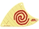 Part No: 28895  Name: Cloth Sail Triangular with Red Spiral Swirl Pattern, 3 Holes, Large (Moana)
