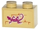 Part No: 3004pb130  Name: Brick 1 x 2 with Lizard on Wall Pattern (Sticker) - Set 41074