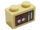 Part No: 3004pb231  Name: Brick 1 x 2 with Clock Weights Pattern (Sticker) - Set 75980