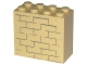 Part No: 30144pb030  Name: Brick 2 x 4 x 3 with Bricks Pattern (Sticker) - Set 4852