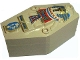 Part No: 30163c01pb01  Name: Container, Coffin with Tan Mummy Relief Colorful Pattern Lid (Sarcophagus)