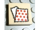 Part No: 3068bpb0065  Name: Tile 2 x 2 with Groove with White/Red Dots Patch Pattern (Sticker) - Sets 2879 / 5909 / 5948