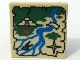Part No: 3068bpb0161  Name: Tile 2 x 2 with Groove with Map River, Mayan/Aztec Ruins, and Red 'X' Pattern