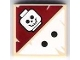 Part No: 3068bpb0418  Name: Tile 2 x 2 with Groove with 2 Black Dots and Skull Pattern