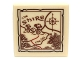 Part No: 3068bpb0641  Name: Tile 2 x 2 with Groove with Map the Shire Pattern (Sticker) - Set 79003