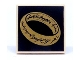 Part No: 3068bpb0823  Name: Tile 2 x 2 with Groove with LotR Gold Ring on Black Background Pattern