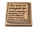 Part No: 3068bpb0825  Name: Tile 2 x 2 with Groove with 'Four score and seven years ago...' Gettysburg Address Pattern