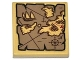 Part No: 3068bpb0884  Name: Tile 2 x 2 with Groove with Map Islands, Anchor and Ship Pattern (Sticker) - Set 79008