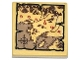 Part No: 3068bpb0885  Name: Tile 2 x 2 with Groove with Map Forests, Mountains and Red 'Gondor' Pattern (Sticker) - Set 79008