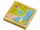 Part No: 3068bpb0902  Name: Tile 2 x 2 with Groove with Map Heartlake City Bay Pattern