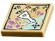 Part No: 3068bpb0907  Name: Tile 2 x 2 with Groove with Map and Elven Key Pattern