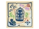 Part No: 3068bpb1061  Name: Tile 2 x 2 with Groove with Map Mini Doll in Birdcage (Elves) Pattern