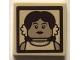 Part No: 3068bpb1194  Name: Tile 2 x 2 with Groove with Sepia Portrait of Female (Leta LeStrange) Pattern (Sticker) - Set 75952