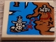Part No: 3068bpb1440  Name: Tile 2 x 2 with Groove with Map, Blue Water, Dark Orange Land, Black N and Arrow, Red X and Path Pattern (Sticker) - Set 70591