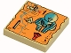 Part No: 3068px13  Name: Tile 2 x 2 with Map Orange and Hieroglyphs, 80 Pattern